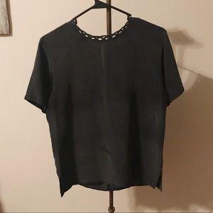 Vintage silk black top